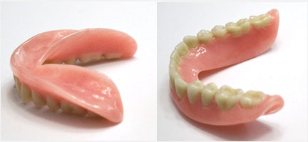 short wall dentures